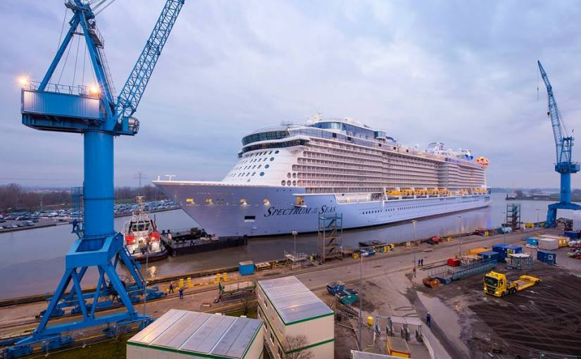 Spectrum of the Seas completes her conveyance – from shipyard tosea