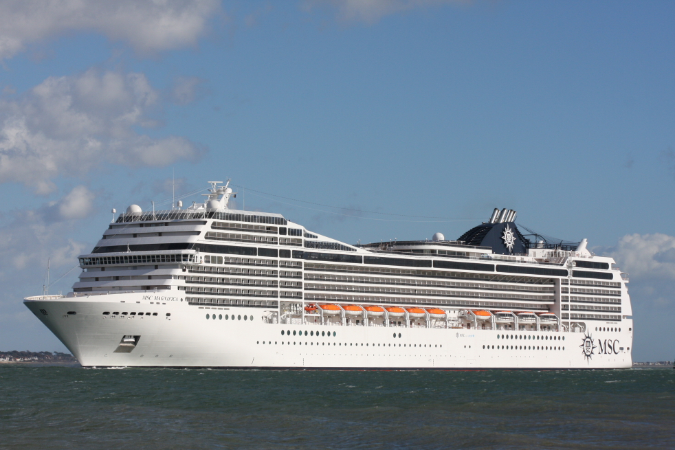 MSC Magnifica in Southampton from 2021 (Image Andrew McAlpine)