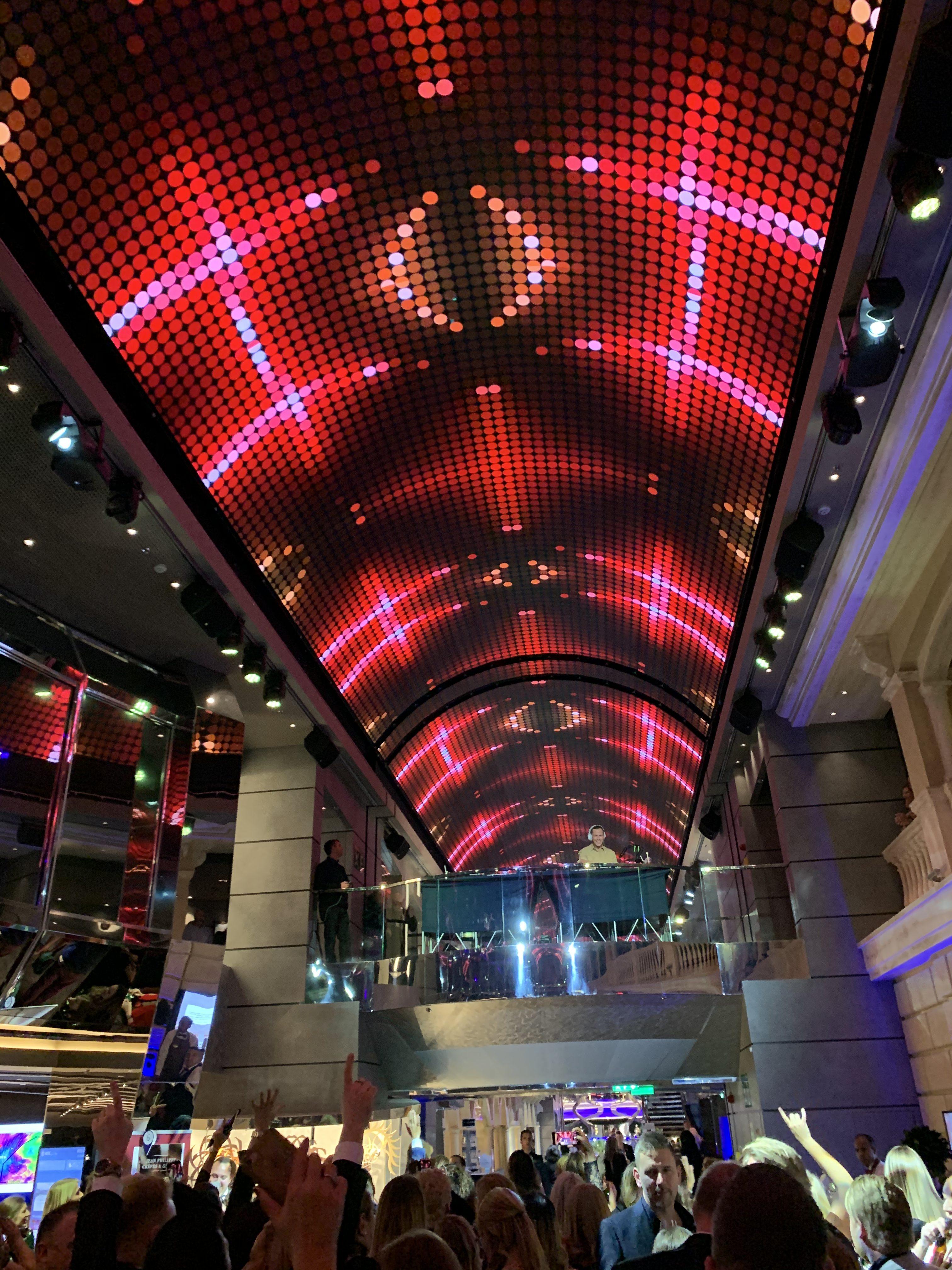LED Ceiling onboard MSC Grandiosa