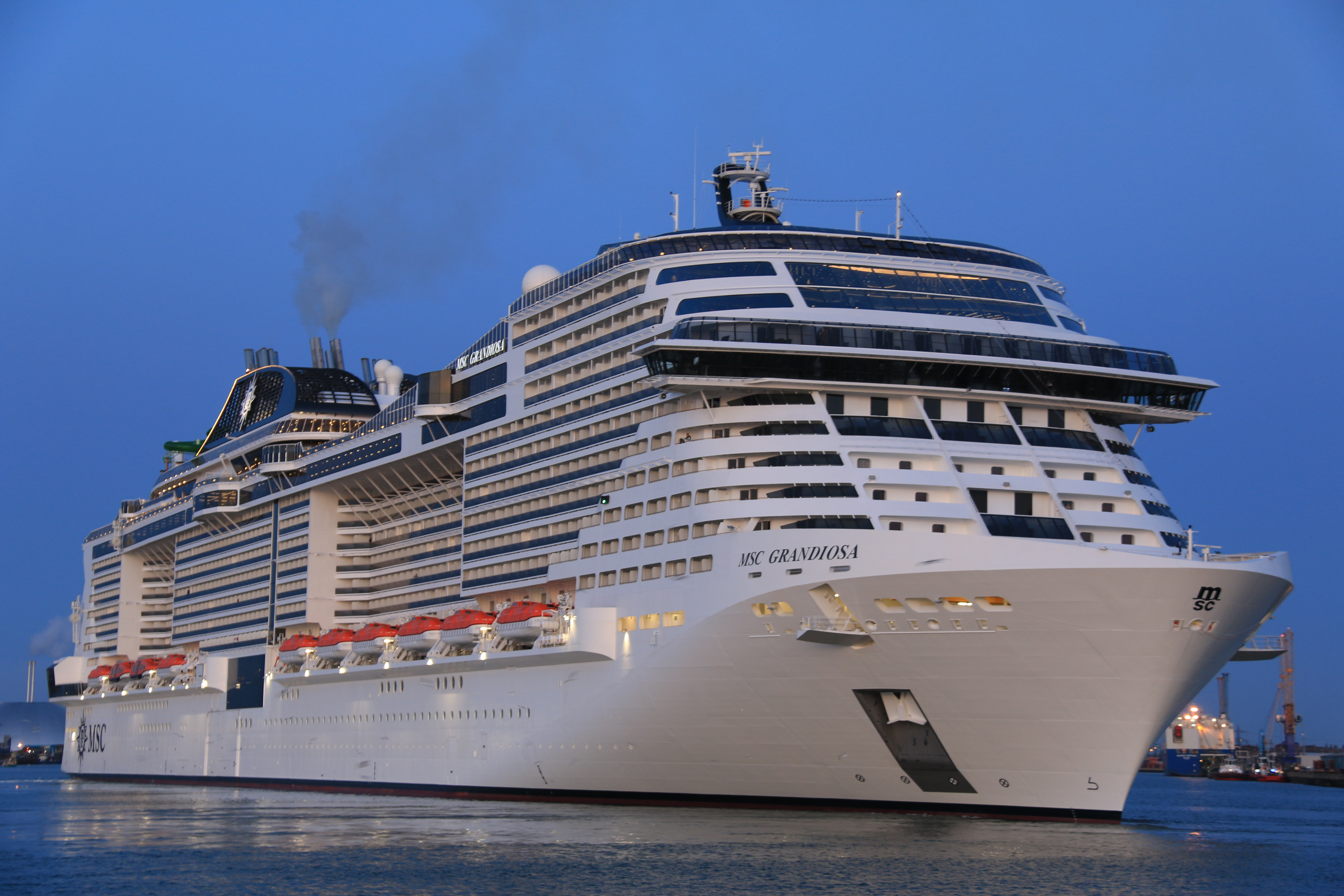 MSC Cruises MSC Grandiosa alongside in Southampton