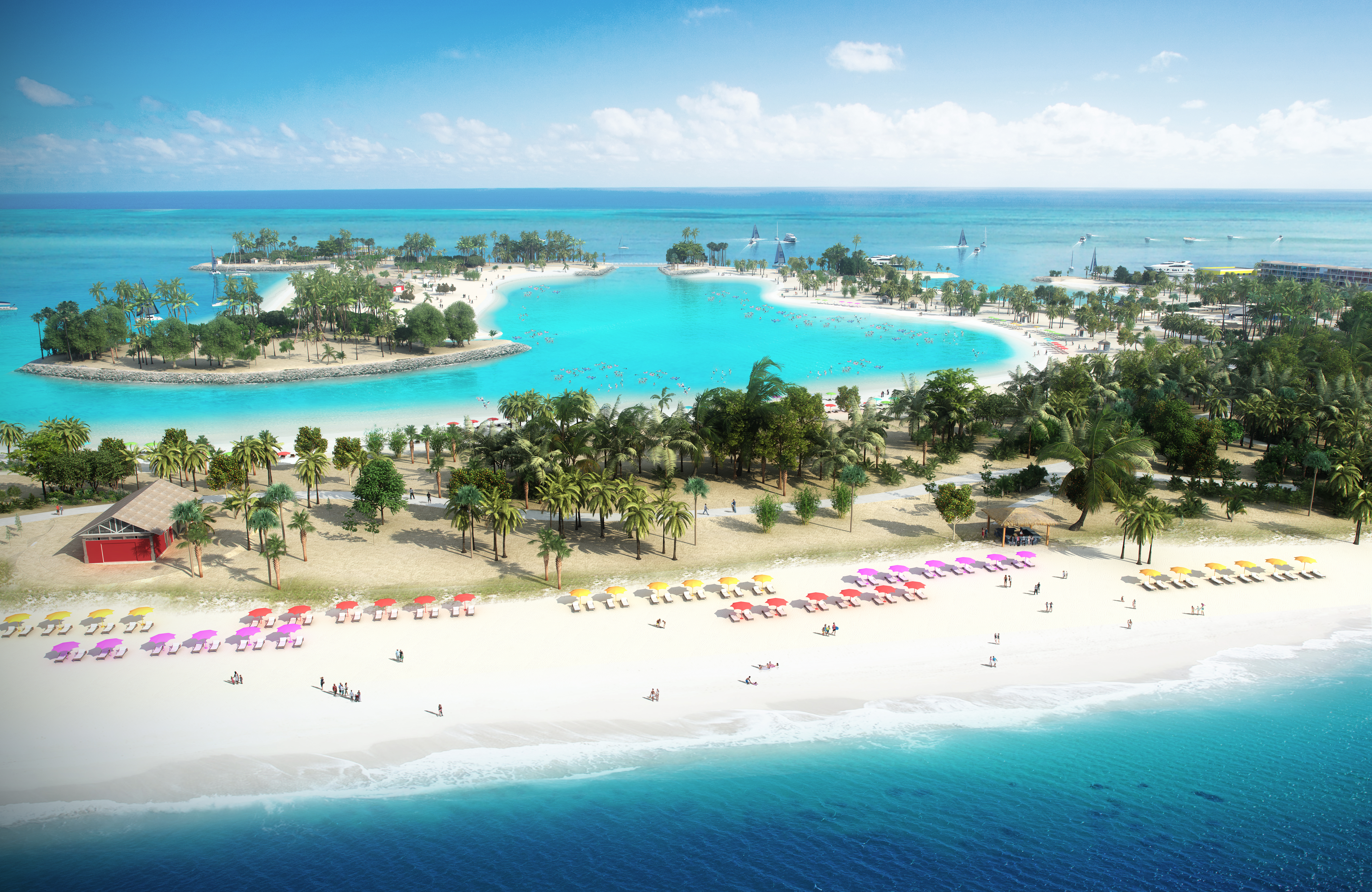 Ocean Cay MSC Marine Reserve features 7 beaches for guests