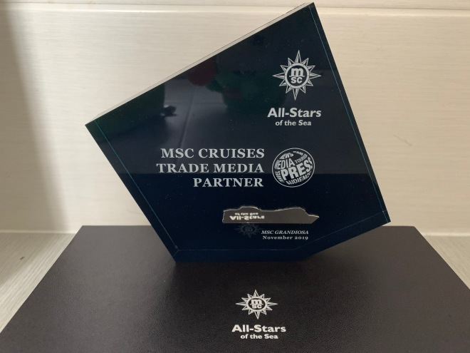 MSC trade media all stars plaque