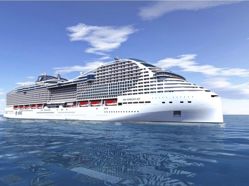 Rendering of MSC World Europa the first World Class Cruise ship for MSC Cruises.