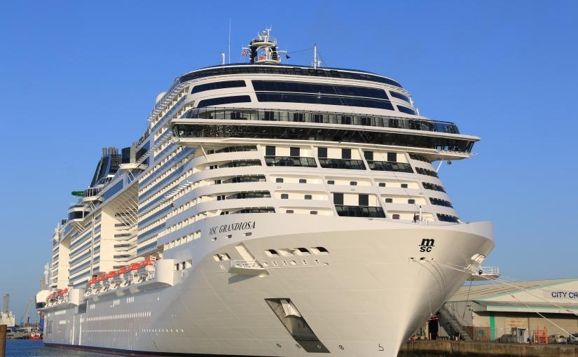 MSC Grandiosa arrives in Southampton for an extendedstay