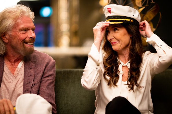 Sir Richard Branson and Capt Wendy
