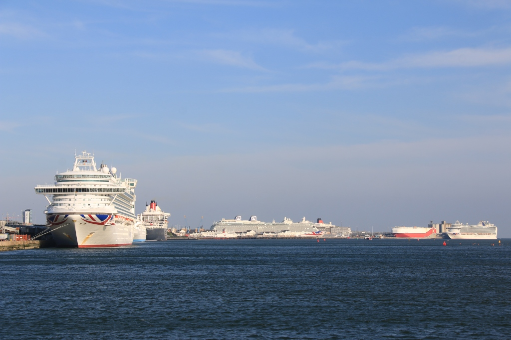 Six cruise ships seen in Southampton (Image Andrew McAlpine)